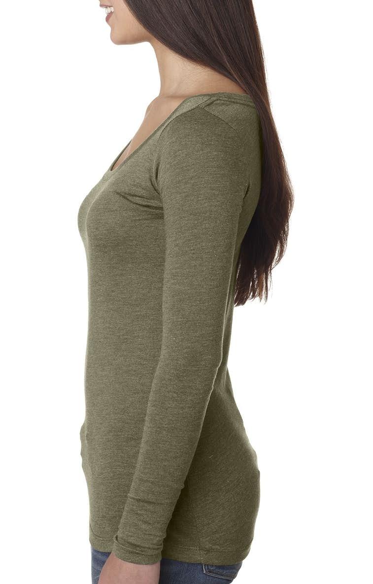 3f6178ba28d Next Level 6731 Ladies  Triblend Long-Sleeve Scoop - JiffyShirts.com