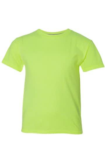 Hanes H420Y Neon Lemon Heather