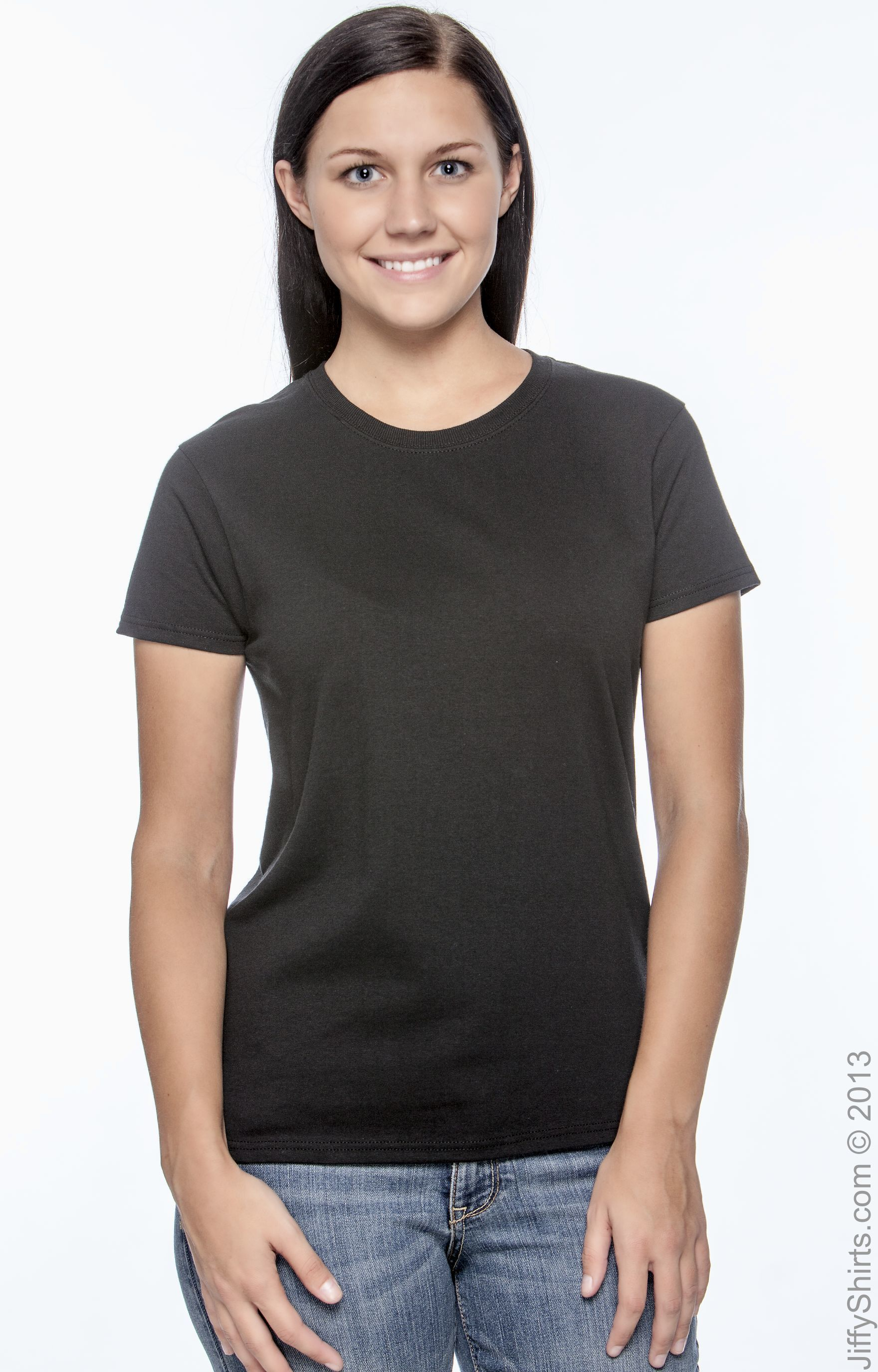 Plain Gildan Tshirt 100/% Preshrunk Cotton Ladies Fashion Women Tee Shirt T-shirt