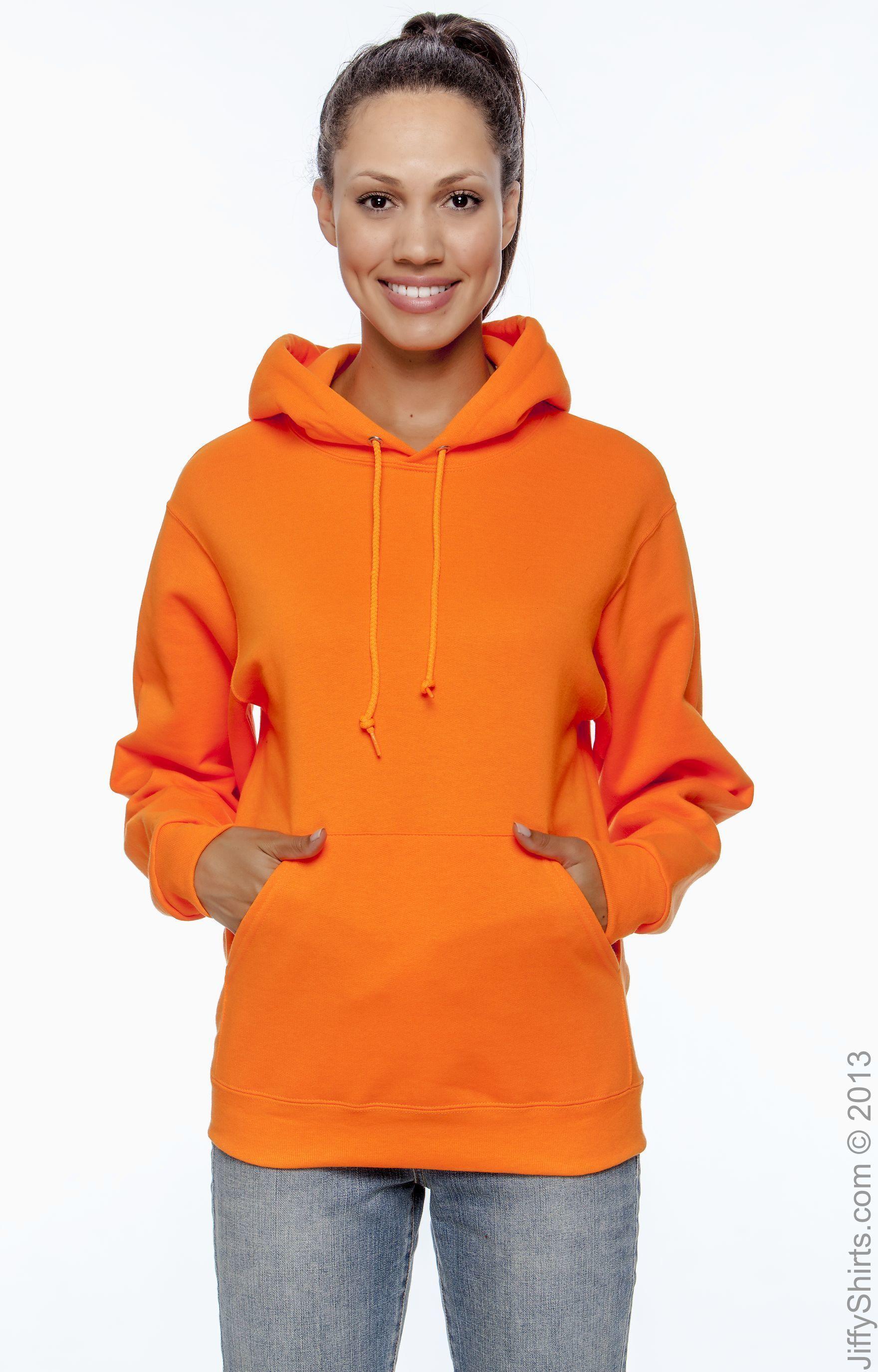 Large NuBlend 50//50 Pullover Hood Safety Orange Jerzees 8 oz