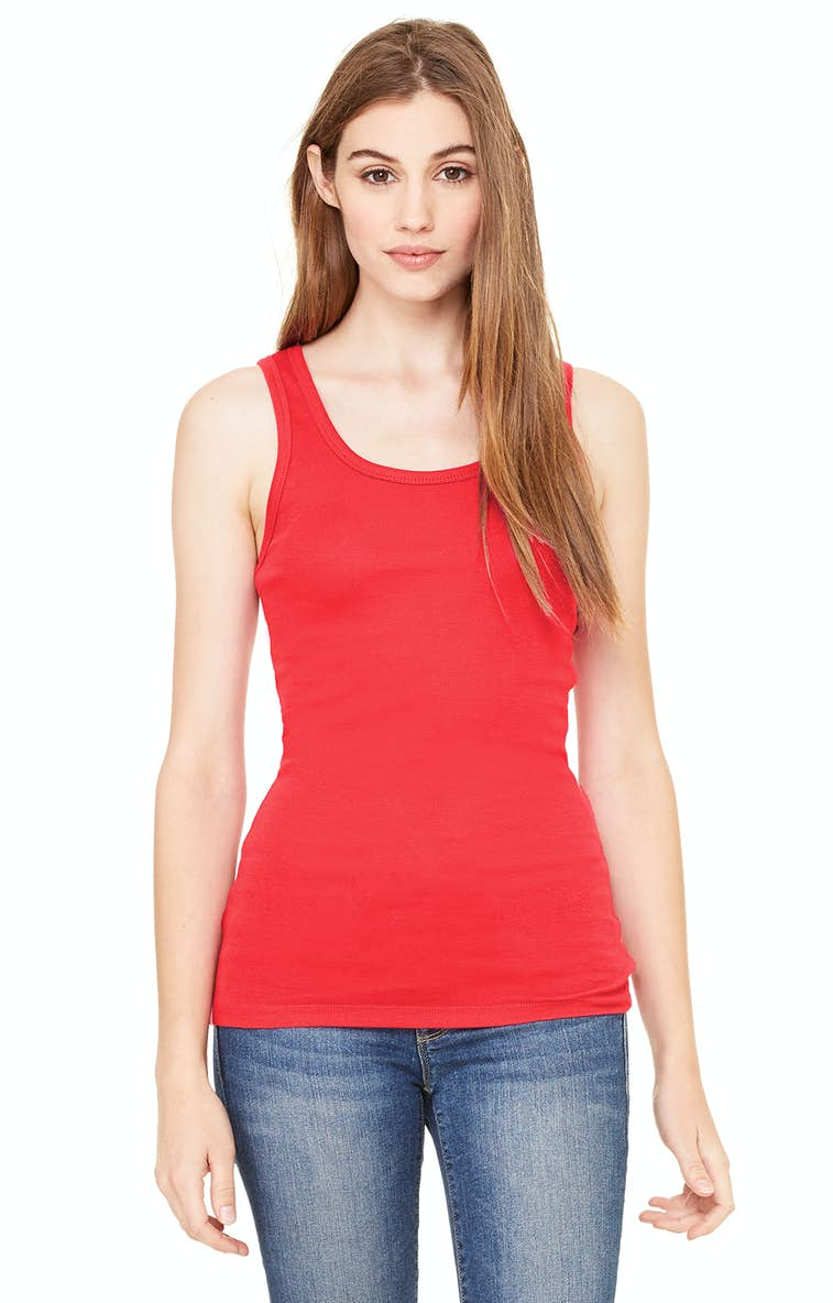 9e733f5bb3c524 Bella+Canvas B8780 Ladies  Sheer Mini Rib Tank - JiffyShirts.com