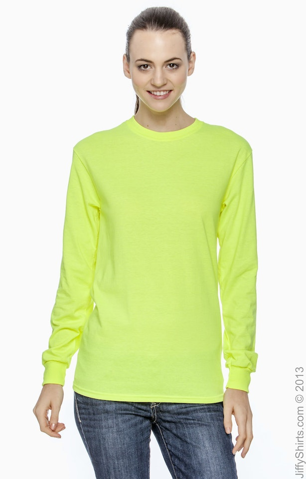 Gildan G240 High Viz Safety Green