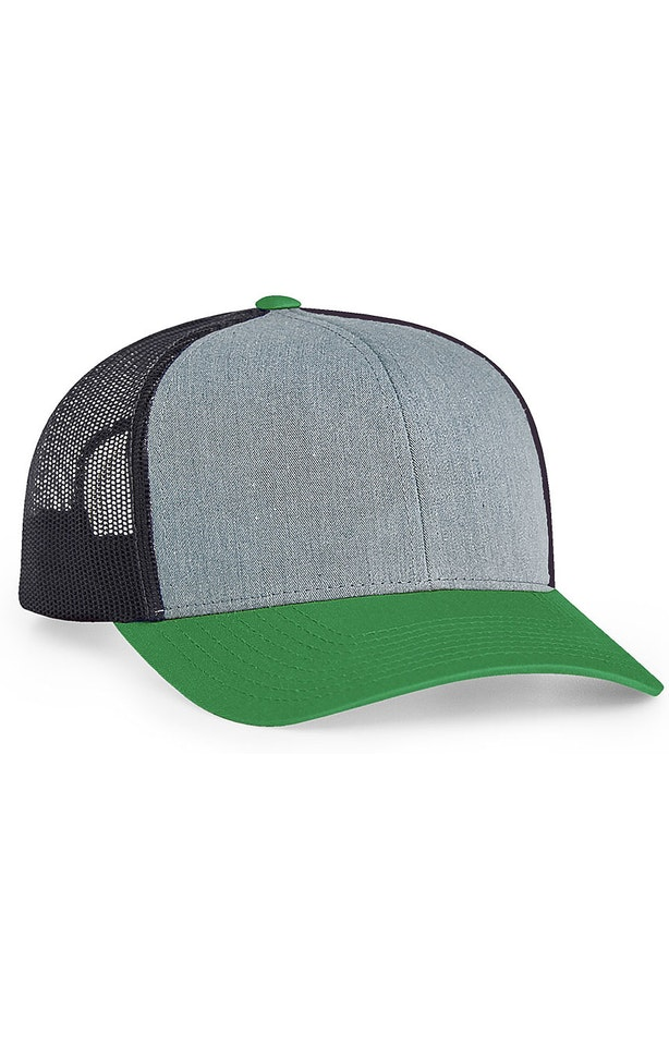 Pacific Headwear 0104PH Heathergrey/Ltcharcoal/Green