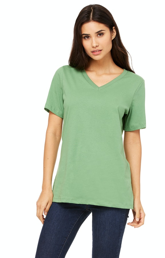 918cfd60f82ed7 Bella+Canvas 6405 Ladies' Relaxed Jersey Short-Sleeve V-Neck T-Shirt ...