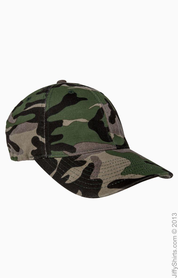 03144e30068 Flexfit 6977CA Adult Cotton Camouflage Cap - JiffyShirts.com