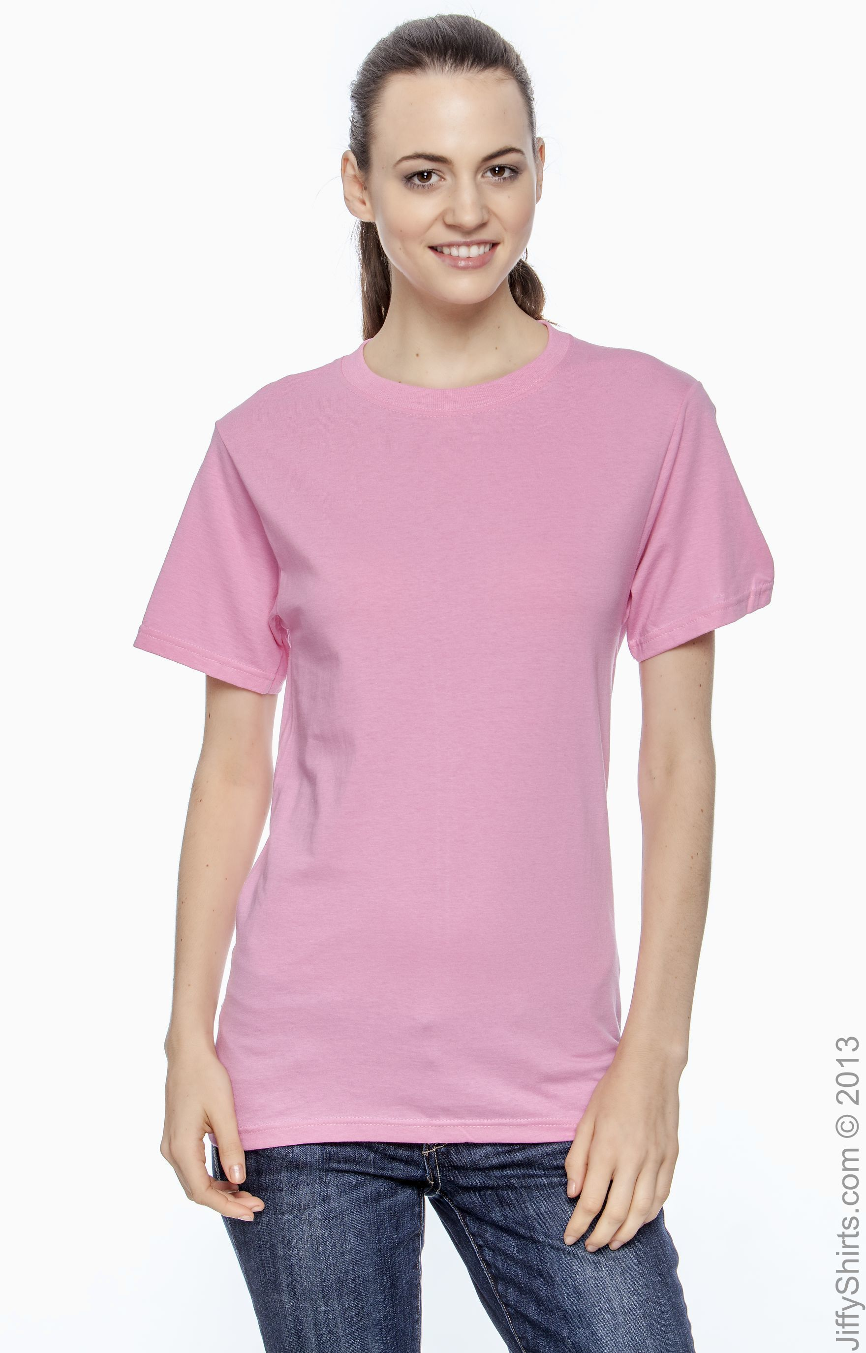 Fruit of the Loom Girls Double Needle Ribbed Collar Heavy Cotton T-Shirt T3930