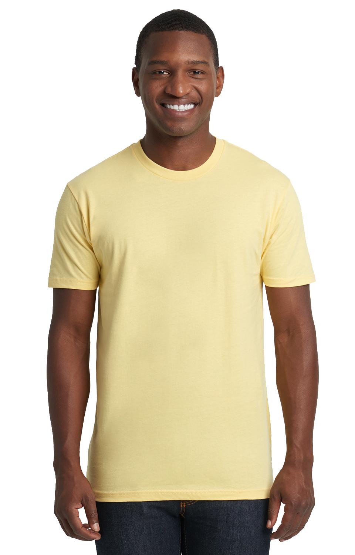 Small Next Level Big Boys Crewneck Shrinkage Gorgeous T-Shirt Banana Cream