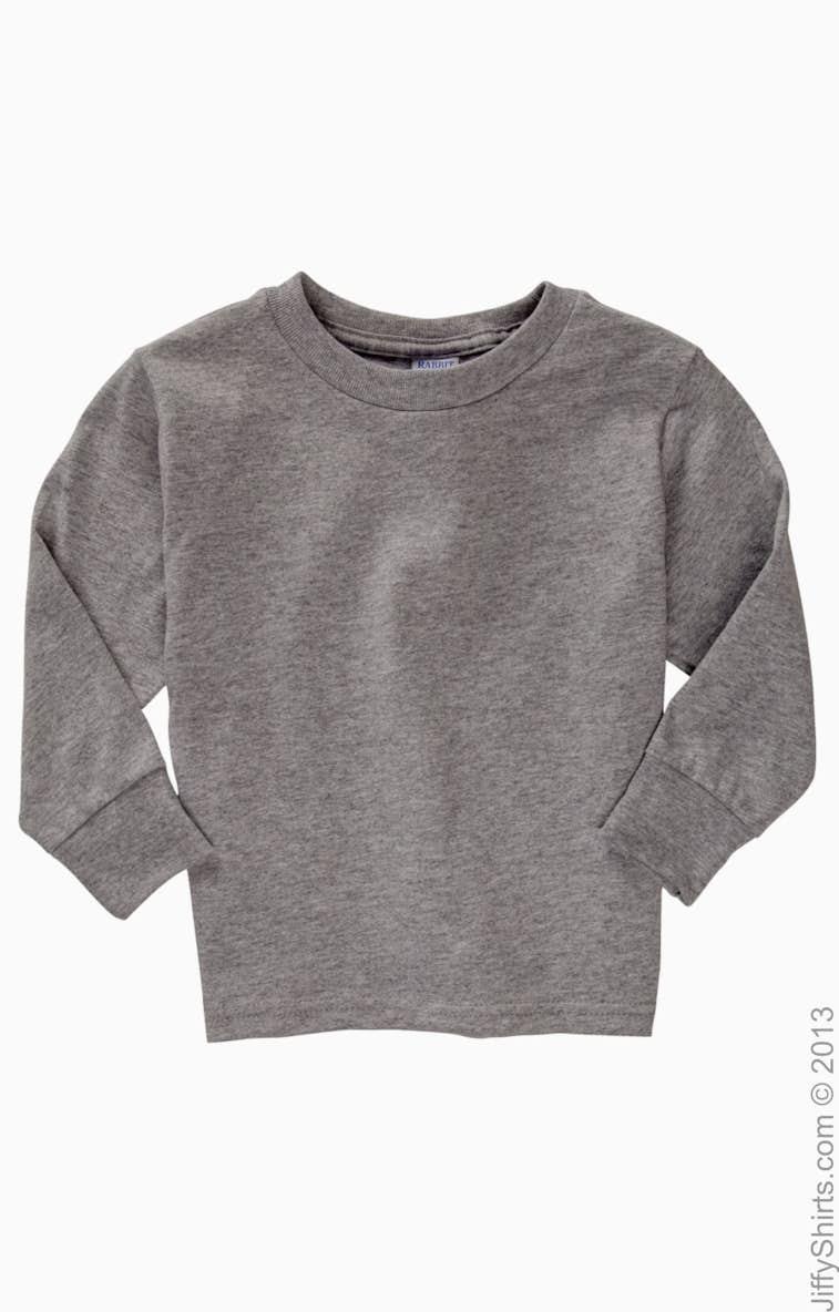 b2637c63172 Rabbit Skins 3311 Toddler Long-Sleeve Cotton Jersey T-Shirt -  JiffyShirts.com