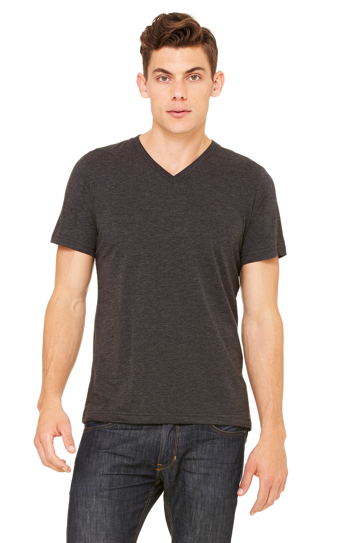 f685fa95e Bella+Canvas 3415C Unisex Triblend Short-Sleeve V-Neck T-Shirt -  JiffyShirts.com
