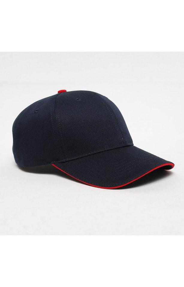 Pacific Headwear 0121PH Navy/Red