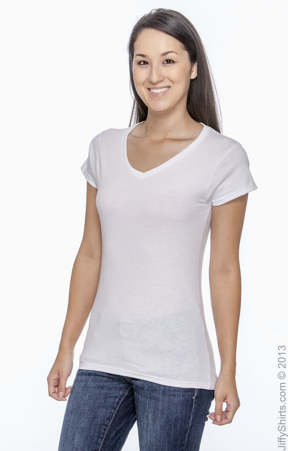 f8e3d4b207a0 Gildan G64VL Ladies' SoftStyle® 4.5 oz. Fitted V-Neck T-Shirt ...