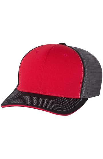 Richardson 172 Red/ Charcoal/ Black Tri