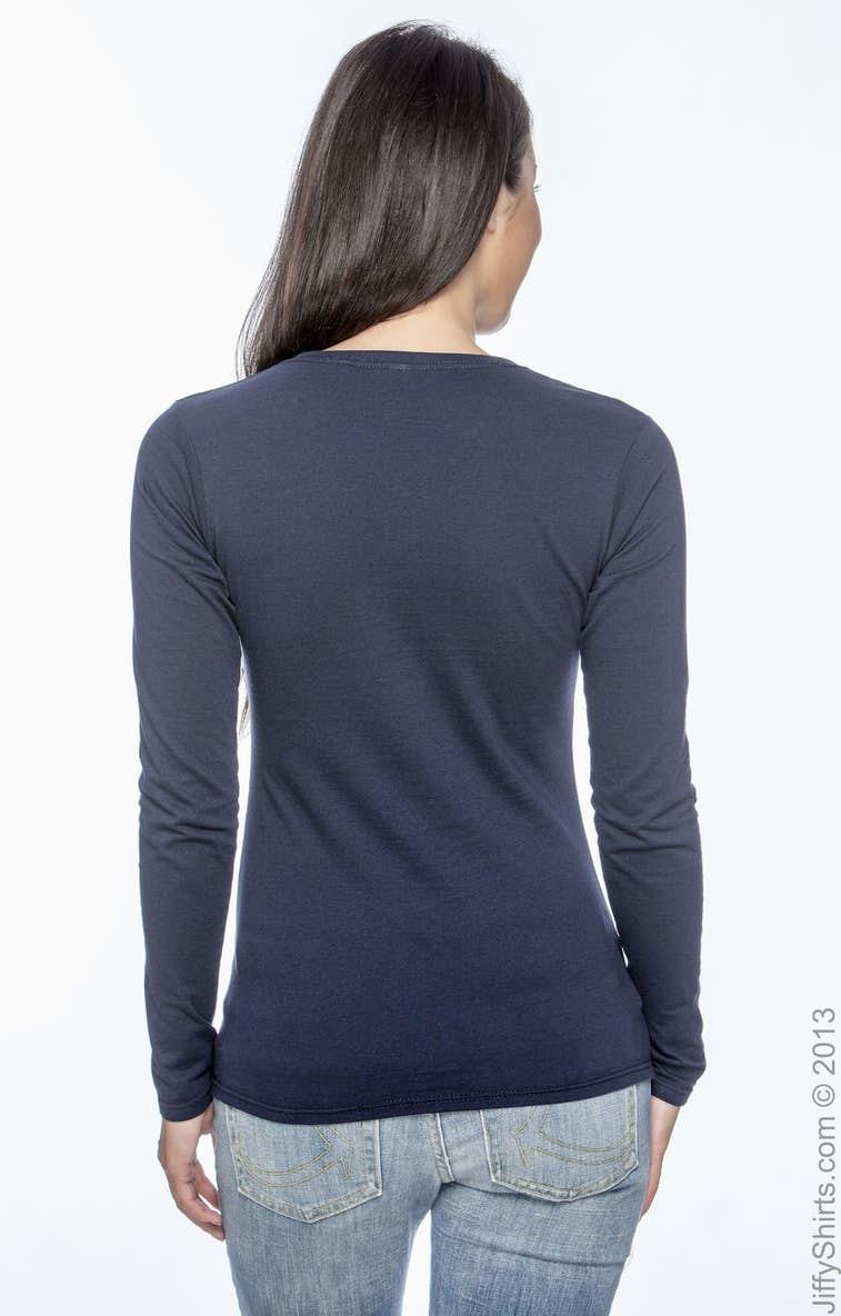 c15a9c5696b8d Gildan G644L Ladies  Softstyle® 4.5 oz. Long-Sleeve T-Shirt ...