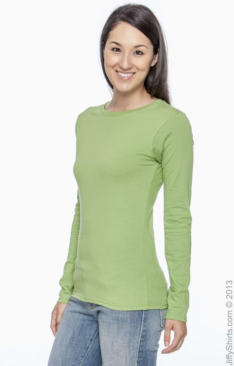 02eaeb35b Gildan G644L Ladies' Softstyle® 4.5 oz. Long-Sleeve T-Shirt ...