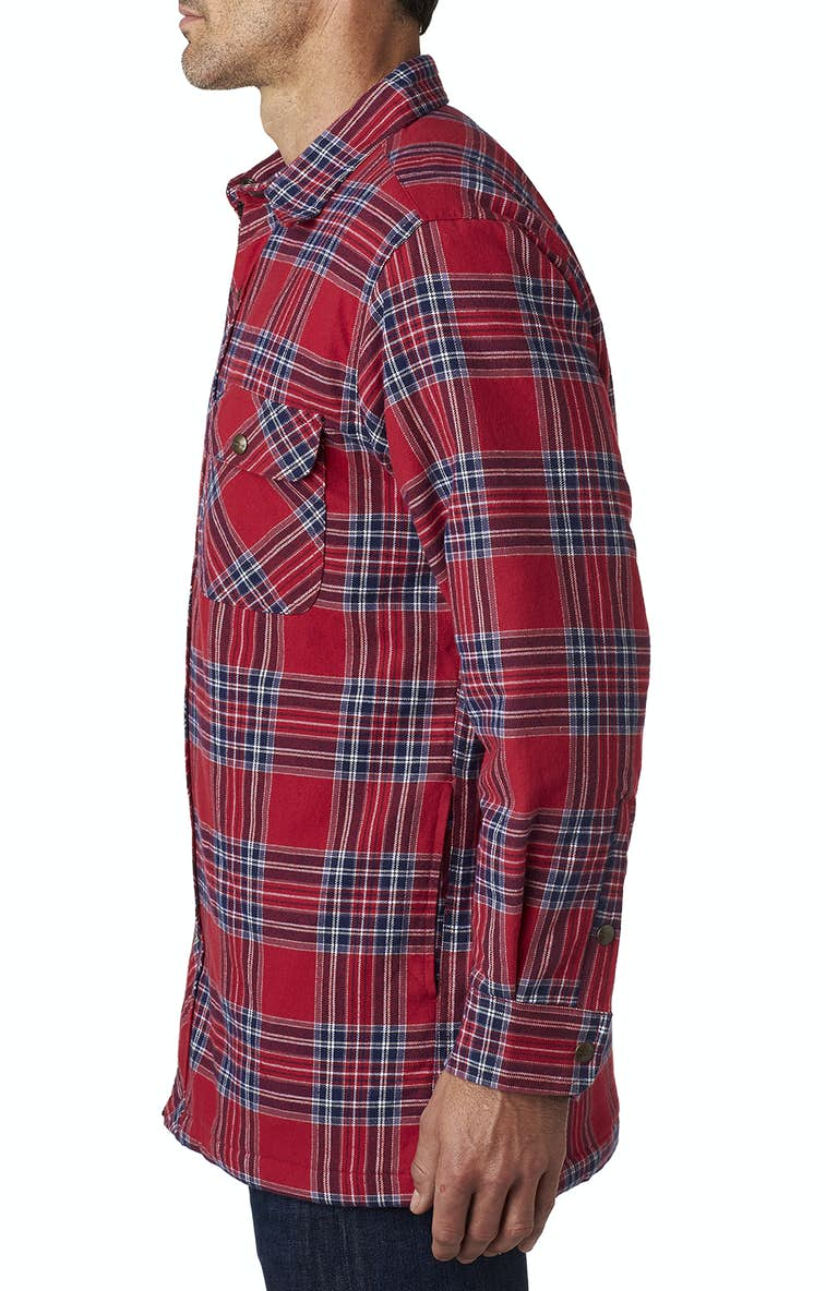 Backpacker Bp7002 Men S Flannel Shirt Jacket With Quilt Lining
