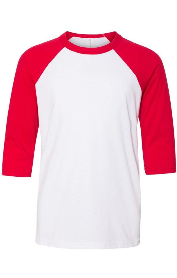 Bella + Canvas 3200Y White / Red