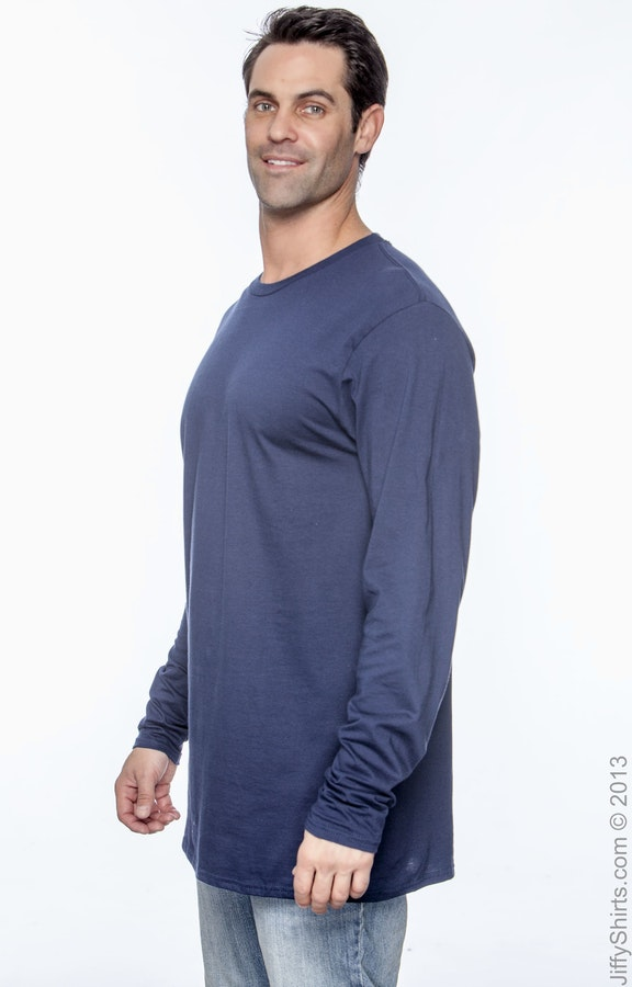 3e963192 Hanes 498L Adult 4.5 oz., 100% Ringspun Cotton nano-T® Long-Sleeve T-Shirt  - JiffyShirts.com
