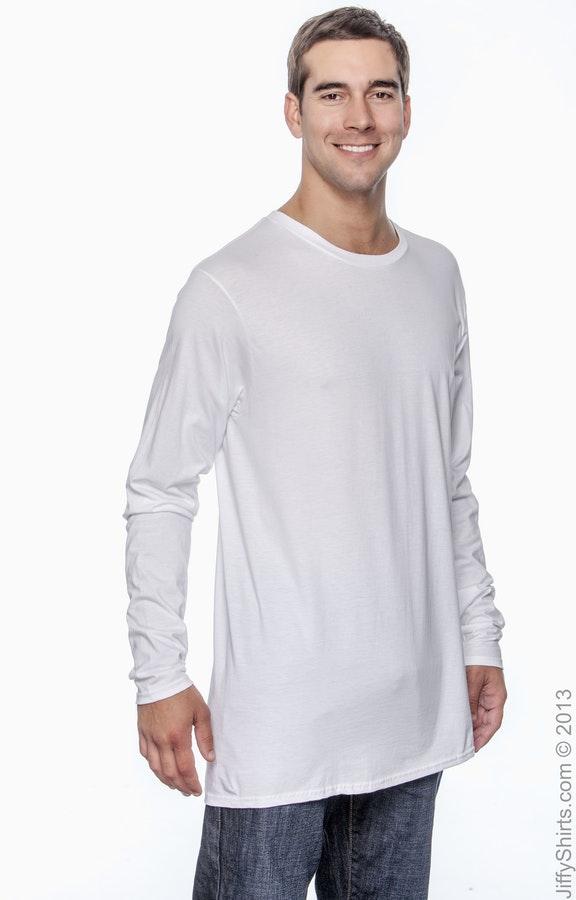 eeda2ad7 Hanes 498L Adult 4.5 oz., 100% Ringspun Cotton nano-T® Long ...
