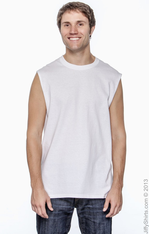 89ecc0b5bd2c Gildan G270 Adult Ultra Cotton® 6 oz. Sleeveless T-Shirt ...