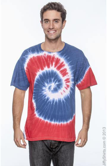 Tie-Dye CD100 Spiral Royal & Red