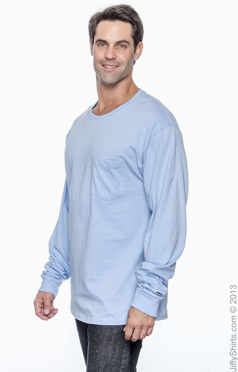 dc8275d09 Hanes Long Sleeve Pocket Tee Shirts – EDGE Engineering and ...