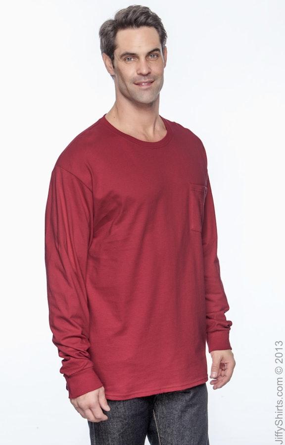 74a95b990984 Hanes 5596 Men's 6.1 oz. Tagless® Long-Sleeve Pocket T-Shirt ...