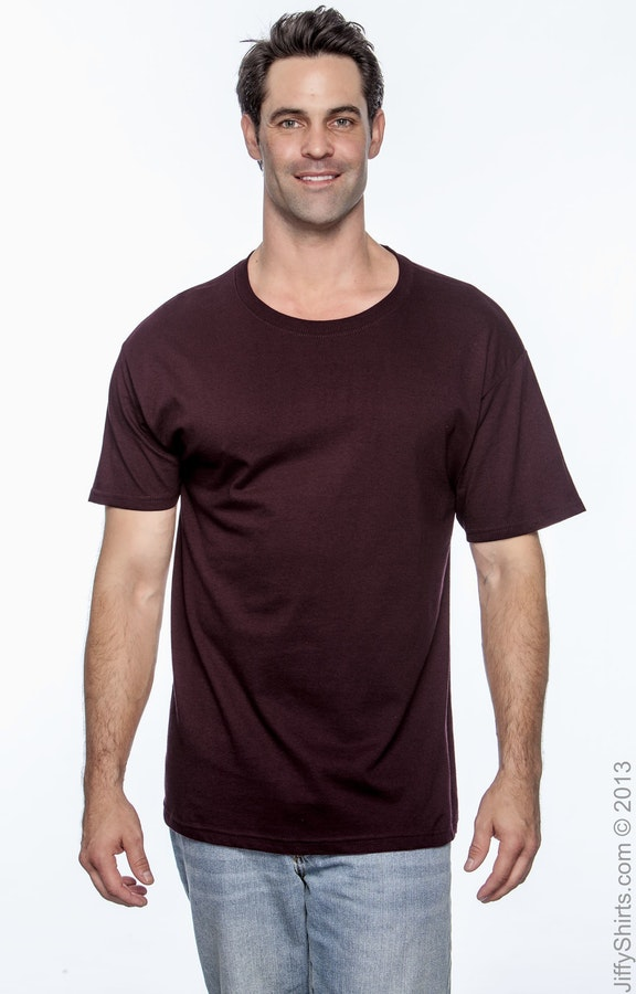 a28bcb79a013 Hanes 5280 Maroon Adult 5.2 oz. ComfortSoft® Cotton T-Shirt