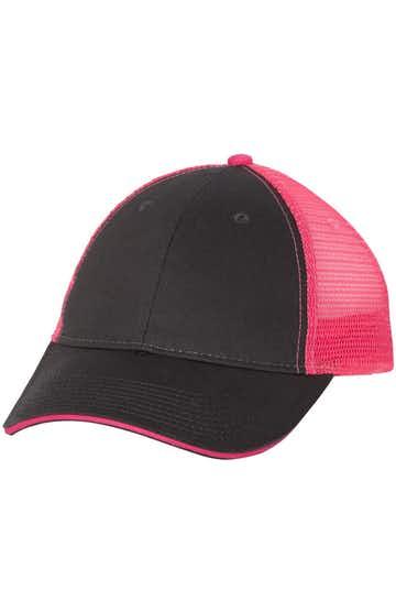 Valucap S102 Charcoal / Neon Pink