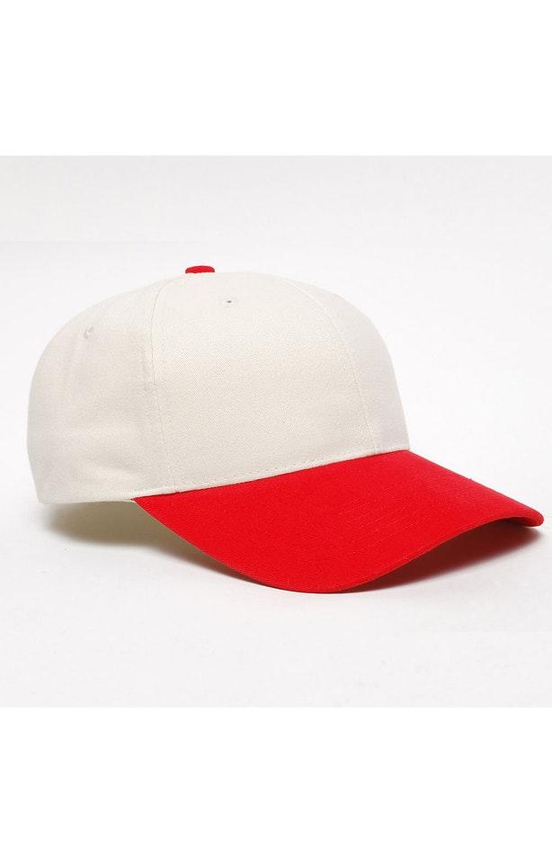 Pacific Headwear 0101PH Khaki/Red