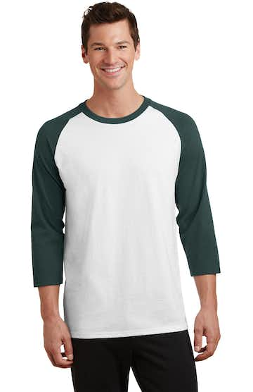 Port & Company PC55RS White / Dark Green