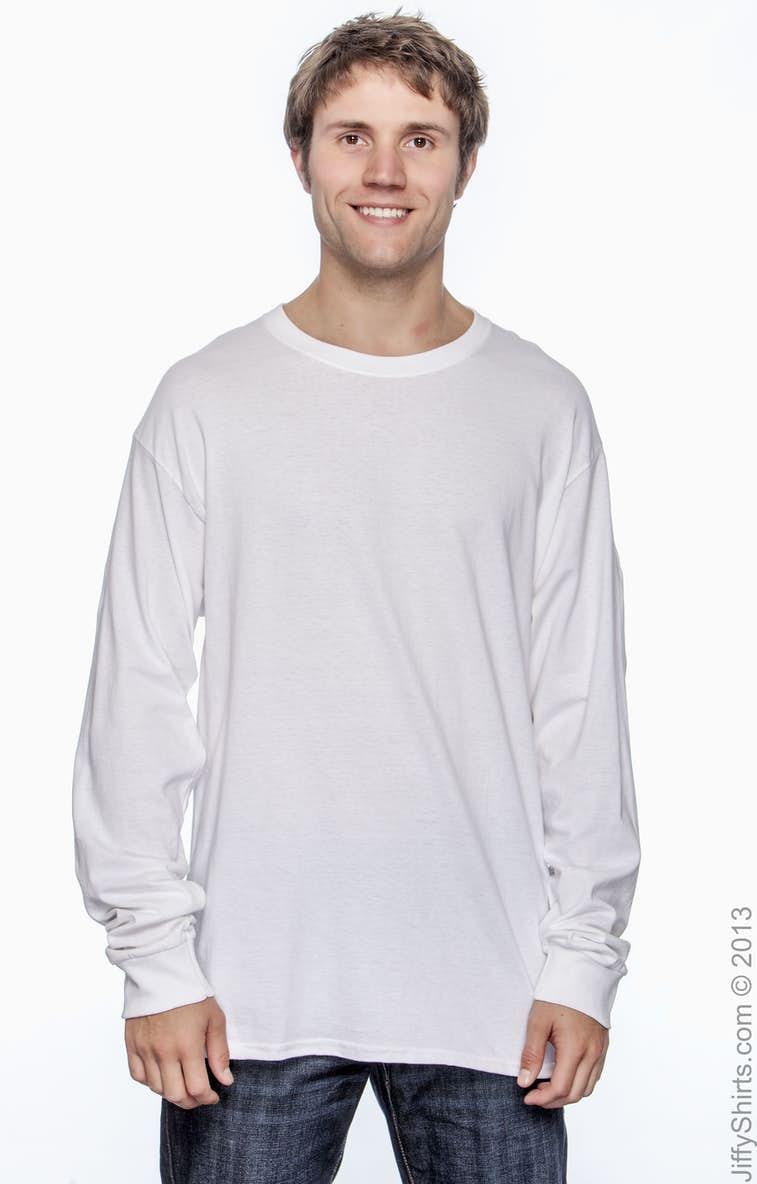 b393dc0b3f5 Hanes 5286 Men s 5.2 oz. ComfortSoft® Cotton Long-Sleeve T-Shirt ...