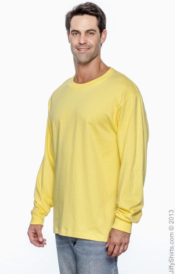 e7ed3553b09540 Hanes 5186 Adult 6.1 oz. Long-Sleeve Beefy-T® - JiffyShirts.com