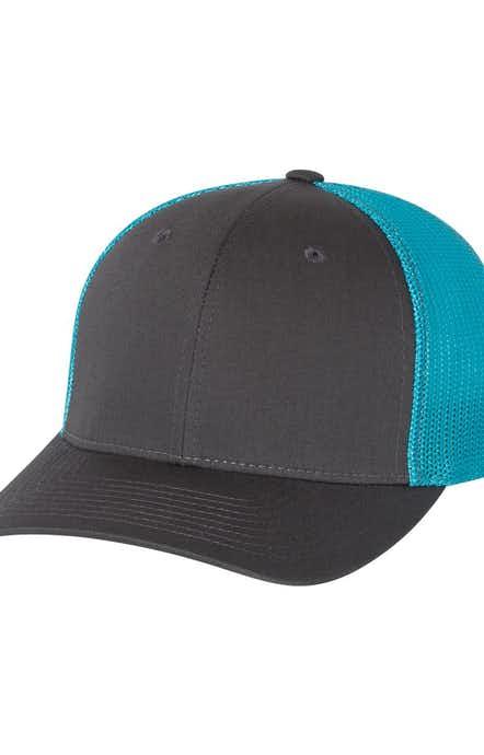 Richardson 110 Charcoal/ Neon Blue