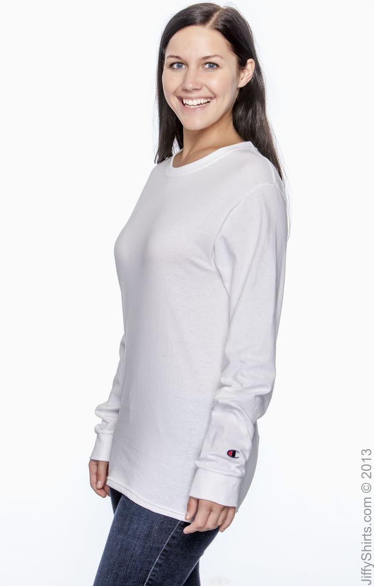 366887c3e4de Champion CC8C Adult 5.2 oz. Long-Sleeve T-Shirt - JiffyShirts.com