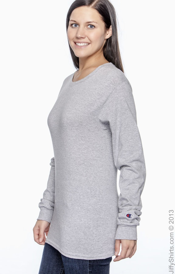 285e7c2d881c Champion CC8C Adult 5.2 oz. Long-Sleeve T-Shirt - JiffyShirts.com