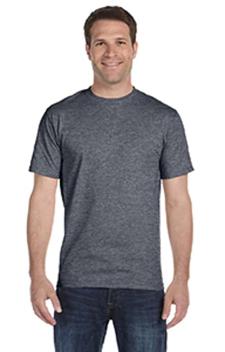 Hanes 518T Charcoal Heather