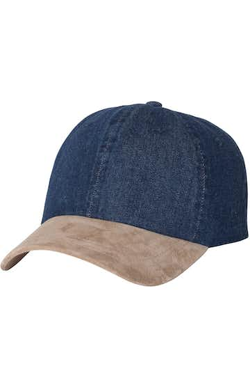 Mega Cap 7611 Navy Denim / Tan