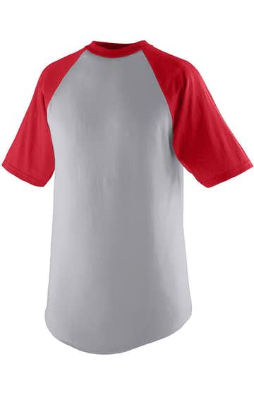 Augusta Sportswear 424 Athletic Heather / Red