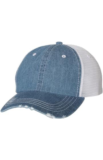 Mega Cap 6990B Blue Denim / White