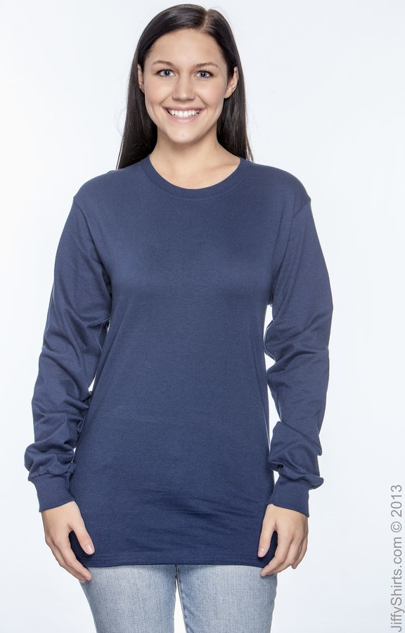 f64b431182 Hanes 5286 Men's 5.2 oz. ComfortSoft® Cotton Long-Sleeve T-Shirt ...