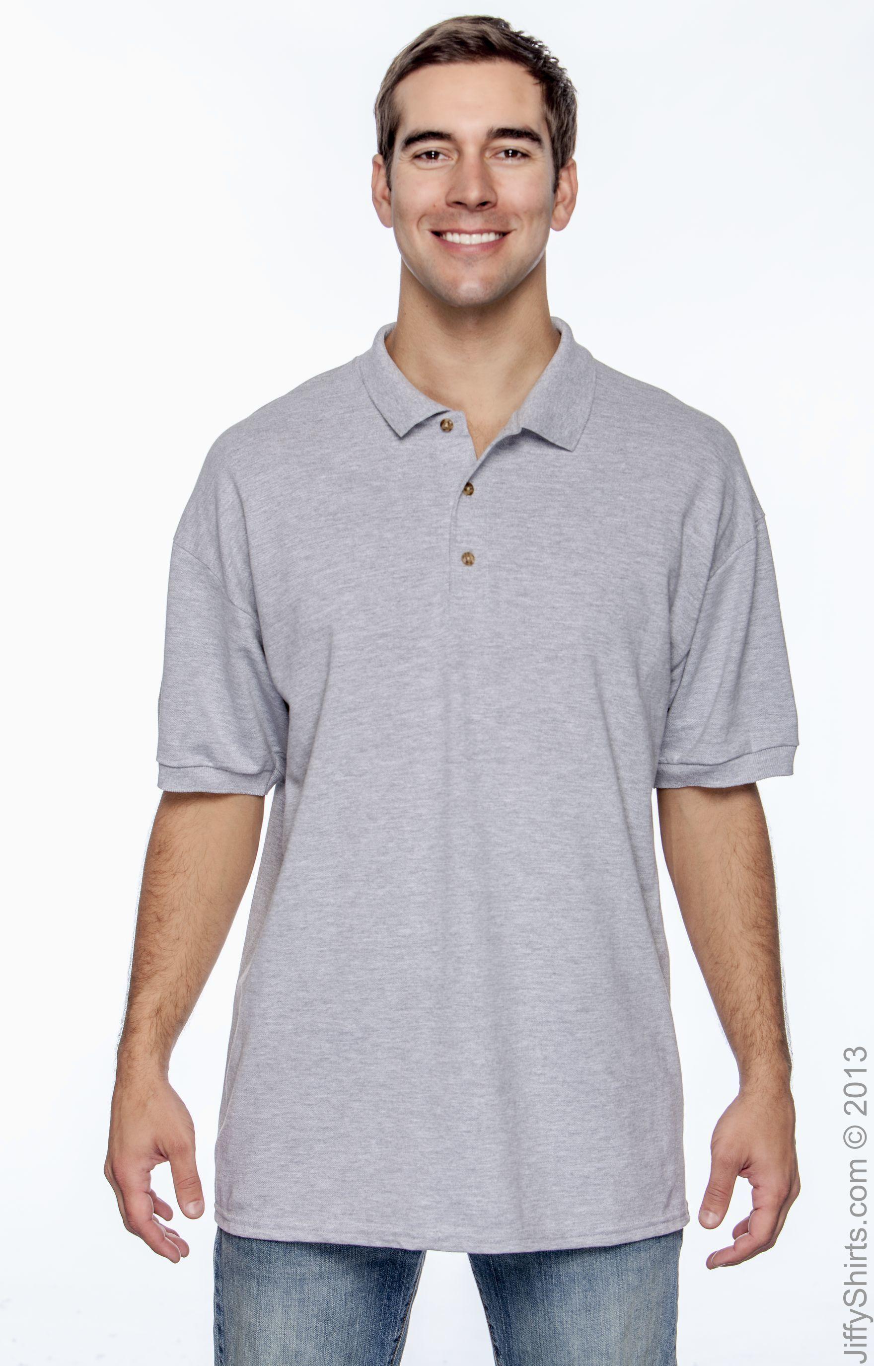Sapphire Small Gildan Premium Cotton 6.5 Oz Double Piqu/é Sport Shirt