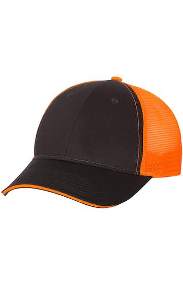 Valucap S102 Charcoal / Neon Orange