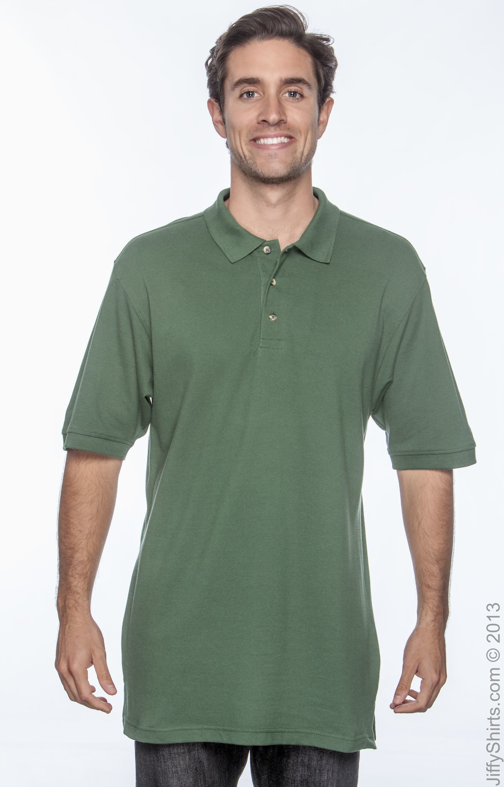 Ringspun Cotton Piqu Short-Sleeve Polo Harriton M200 Mens 6 oz