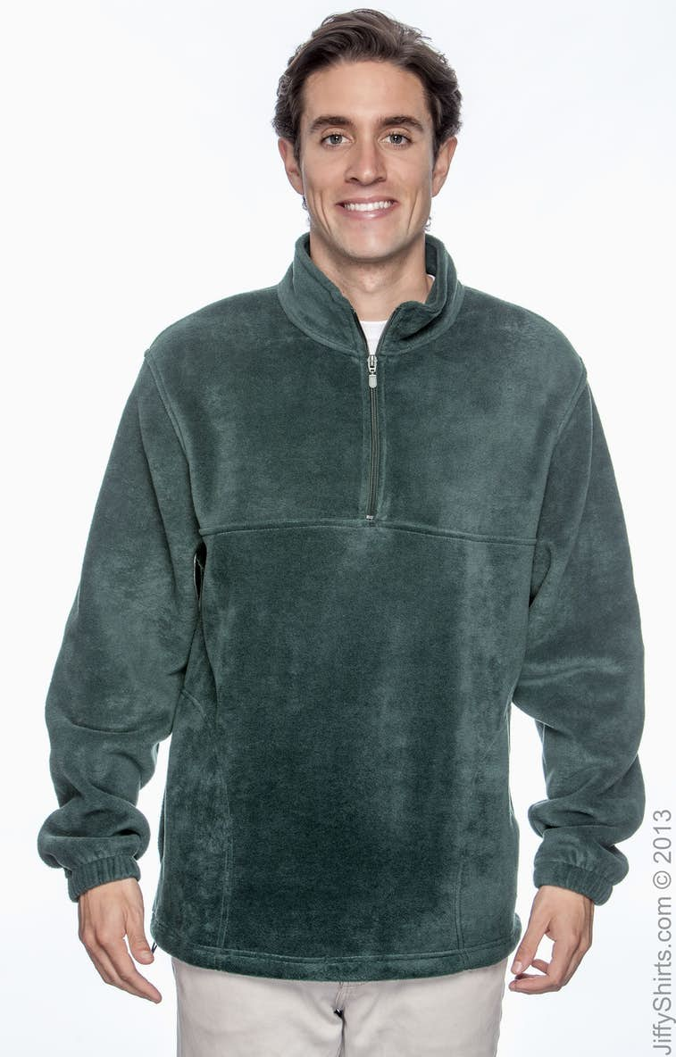 f7b92a1b0350a Harriton M980 Adult 8 oz. Quarter-Zip Fleece Pullover - JiffyShirts.com