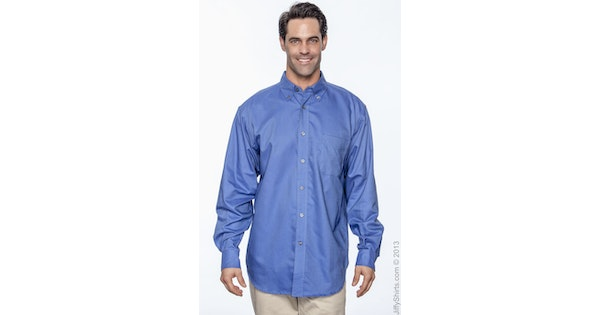 41bddba12 Chestnut Hill CH580 Men's Performance Oxford Long Sleeve - JiffyShirts.com