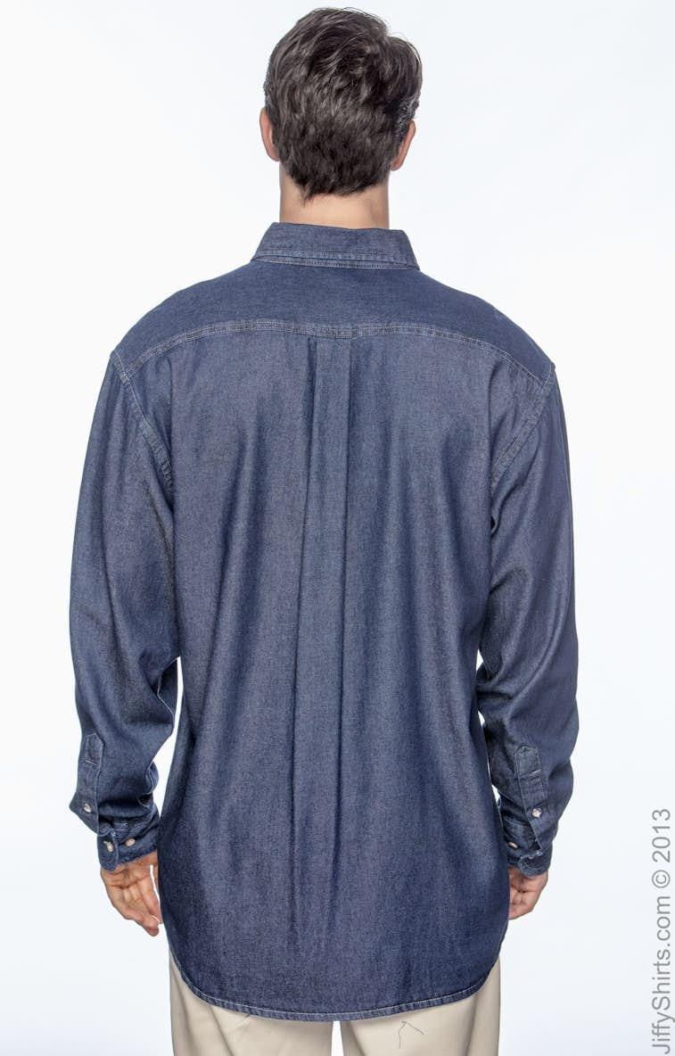 4e03209a41e Harriton M550 Men s 6.5 oz. Long-Sleeve Denim Shirt - JiffyShirts.com