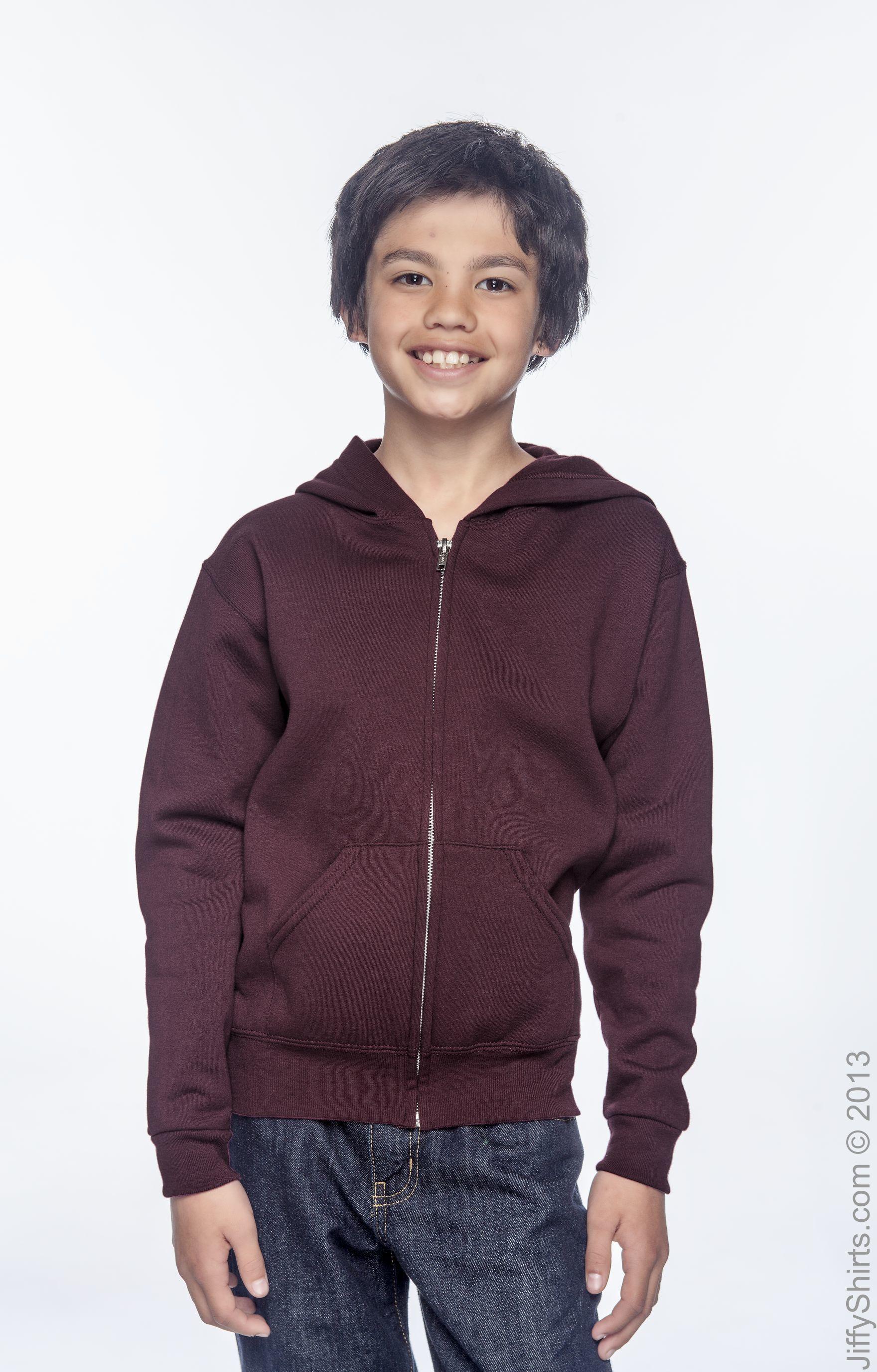 Jerzees Boys Full Zip Hooded Sweatshirt 993B S-XL