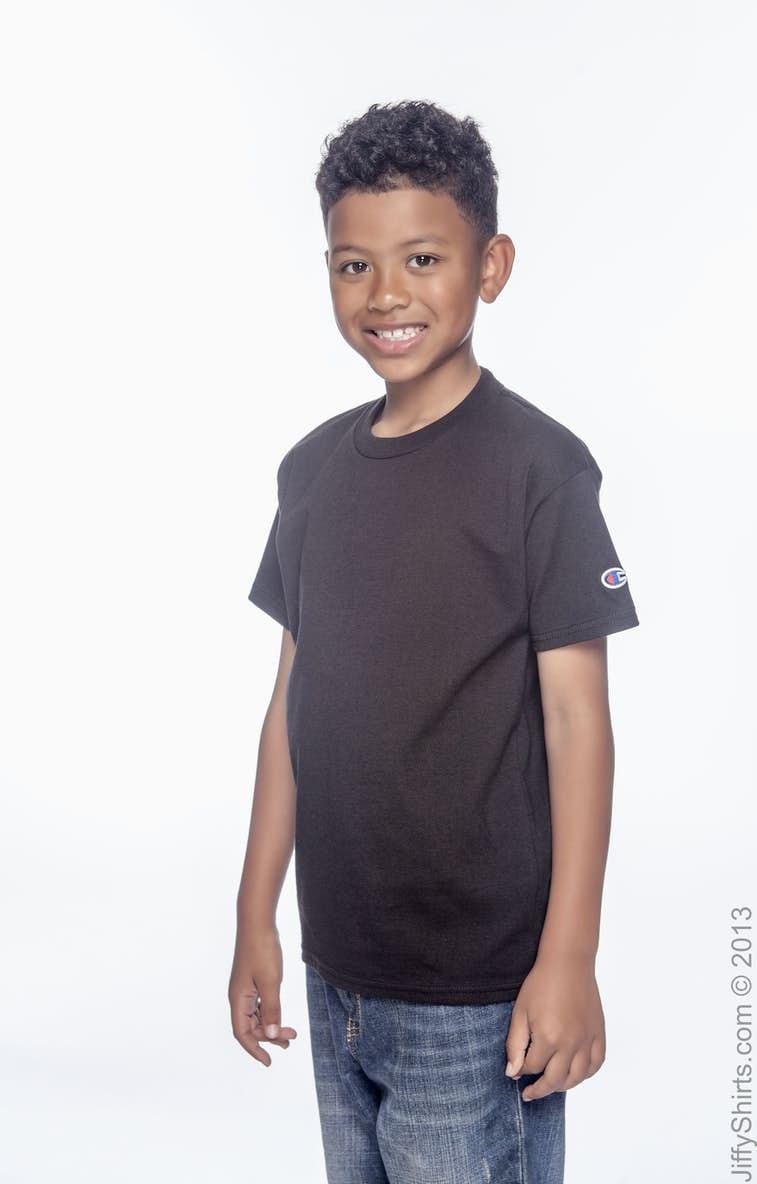 ef84b6fc Champion T435 Youth 6.1 oz. Short-Sleeve T-Shirt - JiffyShirts.com