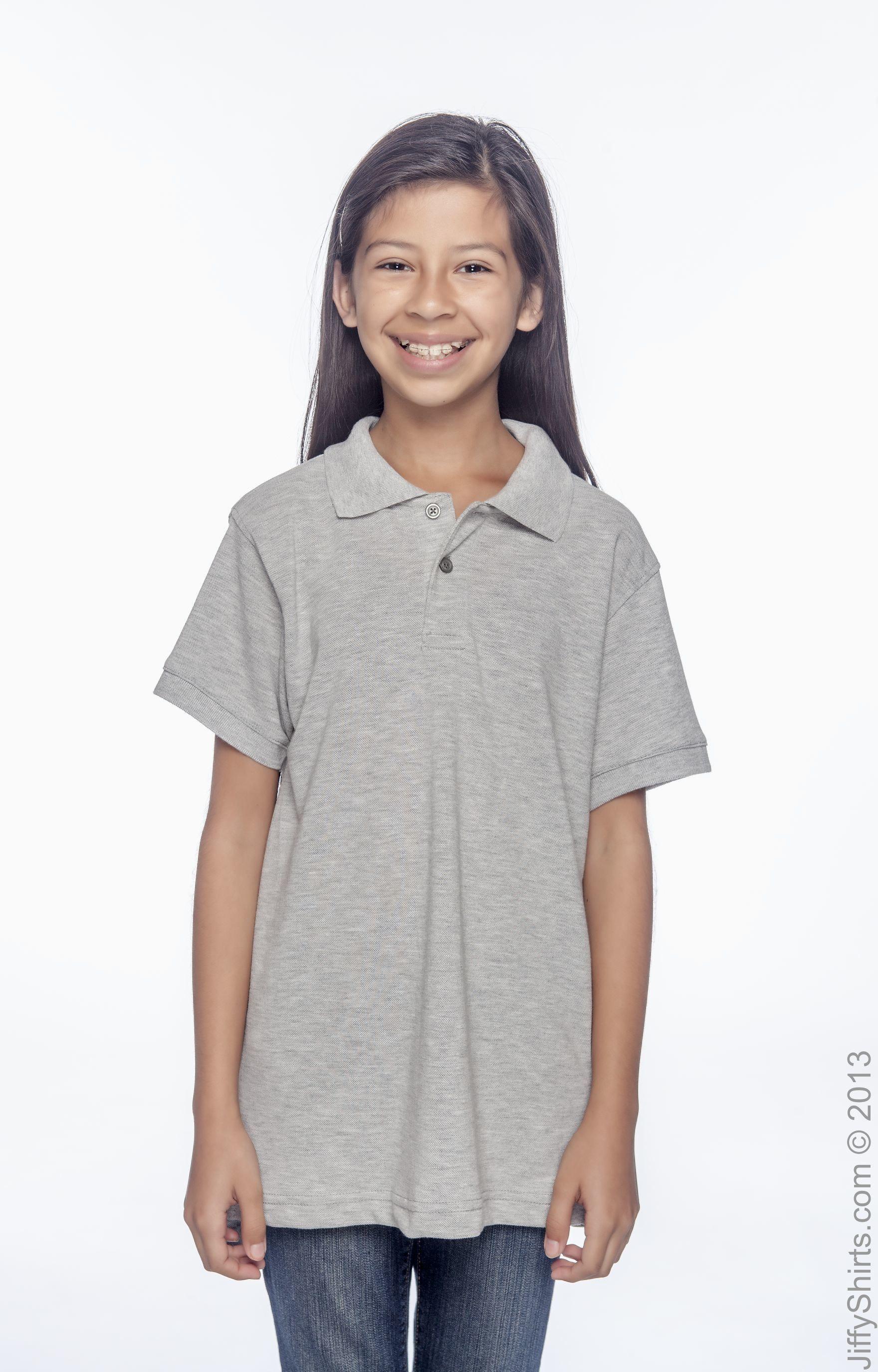 Harriton M265Y Grey Heather