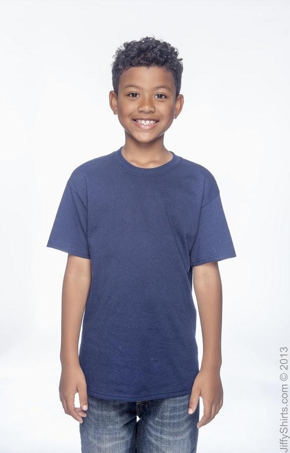 a4303b7c Hanes 5480 Youth 5.2 oz. ComfortSoft® Cotton T-Shirt - JiffyShirts.com